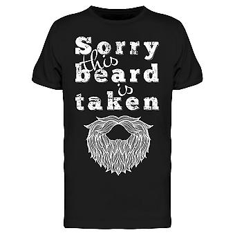 Sorry This Beard's Taken Drawing Tee Men's -Image by Shutterstock
