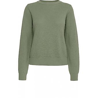 b.young Green Textured Knit Jumper