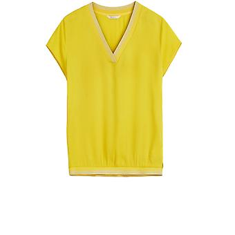 Sandwich Clothing Yellow Boxy Shape Blouse