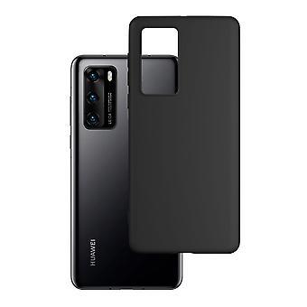 Hull For Huawei P40 Black Mat Soft 1.2 Mm Matt Case