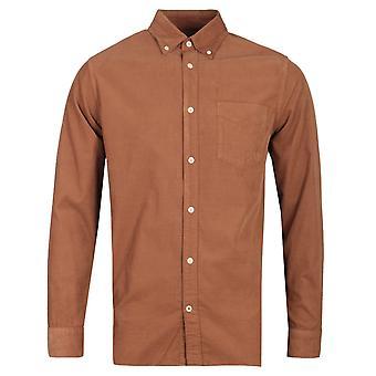 NN07 5082 Levon Corduroy Rust Brown Long Sleeve Shirt
