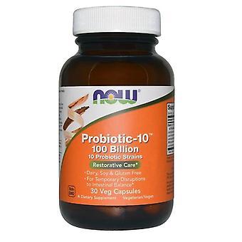 Probiotische 10 - 100 Milliarden (30 vegetarische Kapseln) - Jetzt Lebensmittel