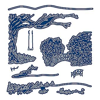 Tattered Lace Picture Getaways Country Stream Die Set