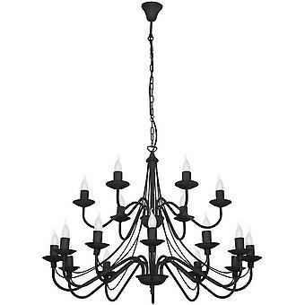 Cate Suspension Lampe Black Metal Couleur, L85xP85xA108 cm