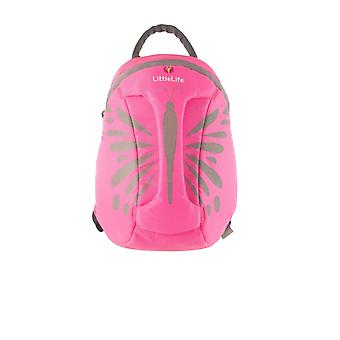 LittleLife Hi-Vis Pink Butterfly Toddler Kids ActionPak Backpack Grab Handle