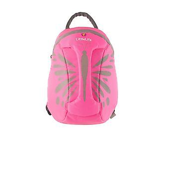 LittleLife Hi-Vis Pink Butterfly Peuter Kinderen ActionPak Rugzak Grab Handle