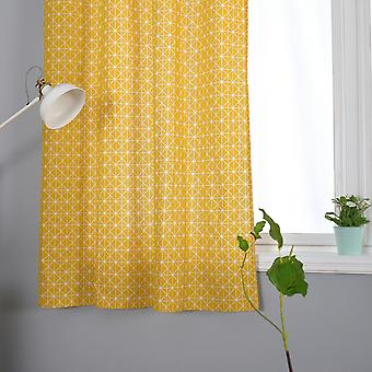 YANGFAN Simple Modern Cotton Flax Punch Curtains(140*215CM)