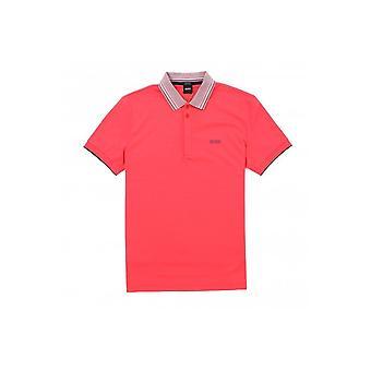 هوغو بوس بادي 1 العادية تناسب القطن الفاخرة الوردي بولو