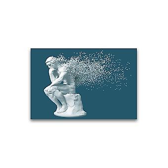 Thinker Sculpture oppløses plakat -Bilde av Shutterstock