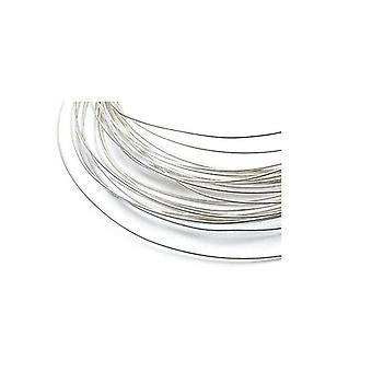 1m Sterling Sølv Soft Argentium Round Wire Rod 28 Gauge