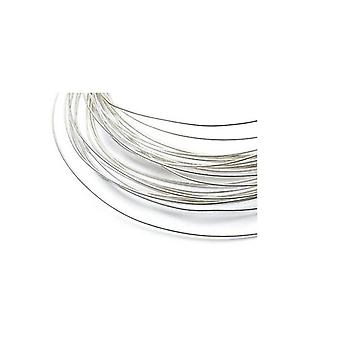 1m Sterling Silver Soft Argentium Okrągły druciany 28 Gauge