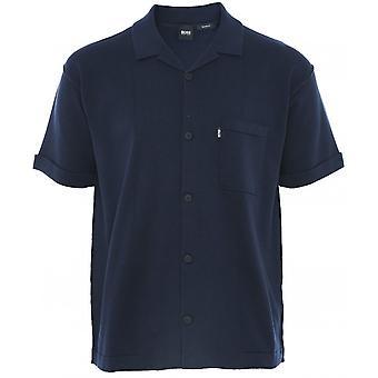 BOSS استرخاء تناسب محبوك القطن Avino قميص