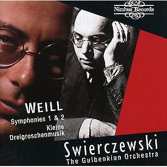 K. Weill - Weill: Symfonier 1 & 2 [CD] USA import