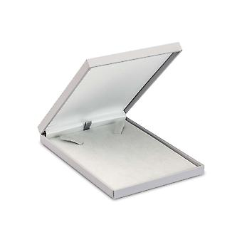 Grey Soft Touch Postal Necklace Box