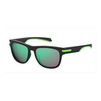 Polaroid PLD2065/S 003/5Z Matte Black/Grey-Multilayer Green ** Sunglasses