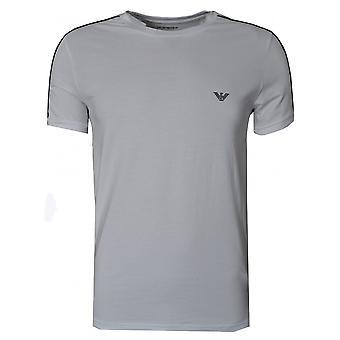 EA7 Herren Weiß Rundhals T-Shirt