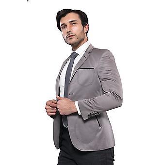 Patch pockets grey blazer | wessi