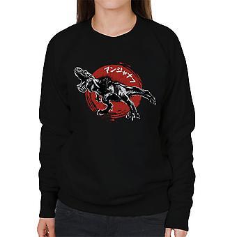 Monster Hunter Anjanath Japanese Text Women's Sweatshirt