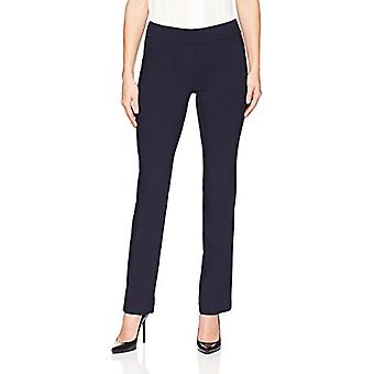 Brand - Lark & Ro Women's Barely Bootcut Stretch Pant: Comfort Fit, Navy, 10S