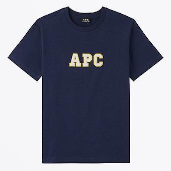 A.P.C.  - غايل - ملصقة شعار تي شيرت - البحرية