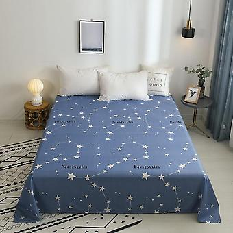 Modern Plain Dyed Print High Quality Soft Cotton Flat Bed Sheet And Pillowcase