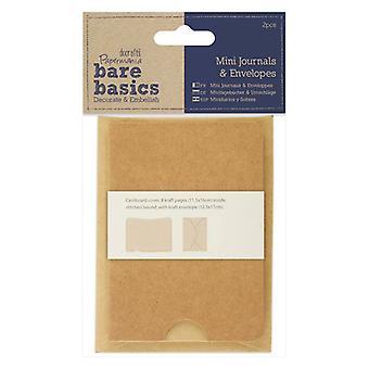 Papermania Bare Basics Mini Journals & Sobres (2 uds) (PMA 174362)
