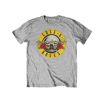 Guns N Roses Kids T Shirt Classic Logo new Official Heather Grey Ages 3-14yrs