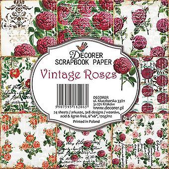 Decorer Vintage Roses 6x6 Inch Paper Pack