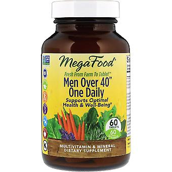 MegaFood, Mannen meer dan 40 one dagelijks, 60 tabletten