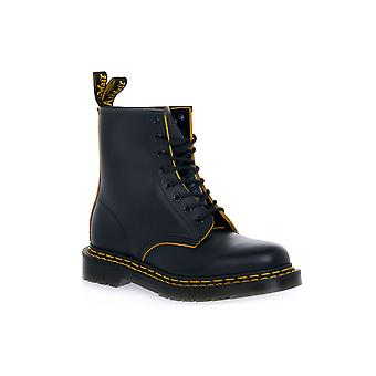 Dr martens 1460 double stitch blk yellow smooth boots / boots