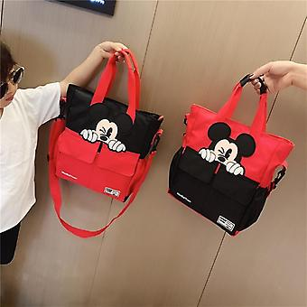Disney Mickey Mouse School Bag - Bag Canvas's Messenger Shoulder Bag