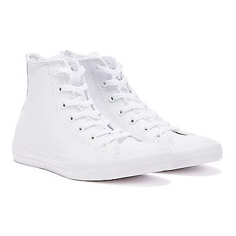 Converse All Star Chuck Taylor Hi Mujeres Mono White Leather Trainers