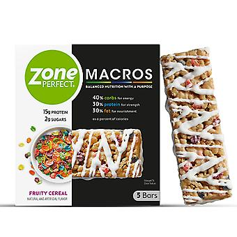 Zone Perfect Macros Bars Fruity Cereal
