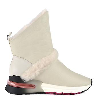 Ash KLIMA Boots White Leather And Faux Fur