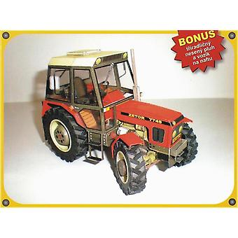 Construction Machinery Zetor 7745 / 7211 Tractor, 3d Paper-model Diy