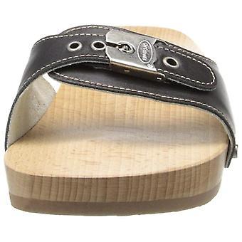 Dr. Scholl's Shoes Women's Shoes Original Leather Peep Toe Casual Slide Sandals