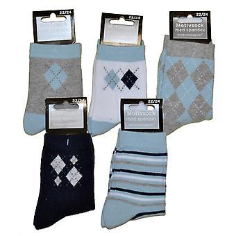5-Pack Socken 22/24 - Muster