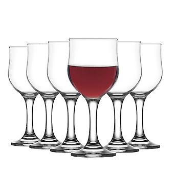 LAV Nevakar Stemmed Vino Tinto Tulip Glasses - 240ml - Pack de 6