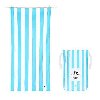 Dock & bay quick dry towel - cabana - tulum blue