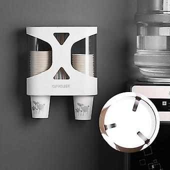 Wall Mount Disposable Paper / Coffee / Dispenser Cup Straw Holder- Automatic