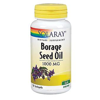 Solaray Borage Seed Oil, 1,000 mg, 50 Softgels