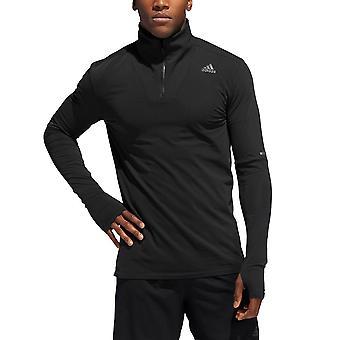 Adidas Supernova 1 4 Zip Tee DN3221 running all year men sweatshirts