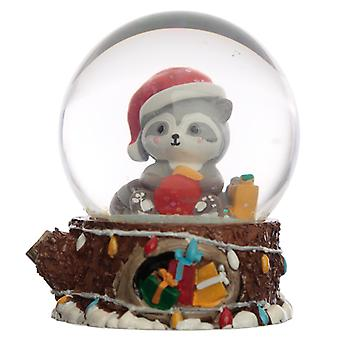Collectable Chritmas Racoon Snow Globe Waterball