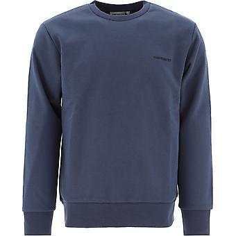 Carhartt I027678030e090 Men's Blue Cotton Sweatshirt