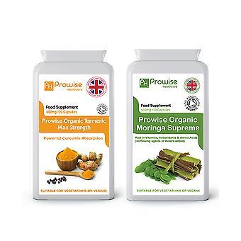 Organic Turmeric + Moringa Supreme | Suitable For Vegetarians & Vegans | Made In UK