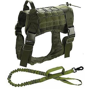 Tactical Dog Vest- Breathable Military Dog Clothes Harness, Adjustable Size