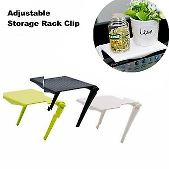Adjustable Screen Shelf Office Storage Rack, Clip Computer Table Desk