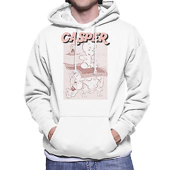 Casper The Friendly Ghost Characters On Flying Carpet Men's Hooded Sweatshirt