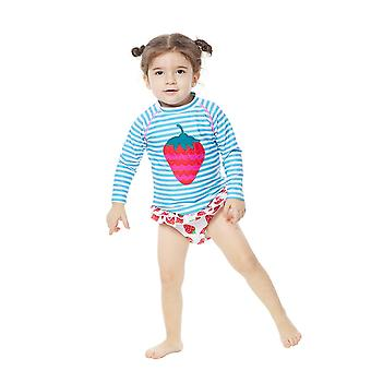 Bonverano Infant Girls Two Piece UPF 50+ Sun Protection L/S Mangas Maiô