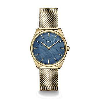 Cluse CW0101212007 La Féroce Gold Tone Mesh Wristwatch